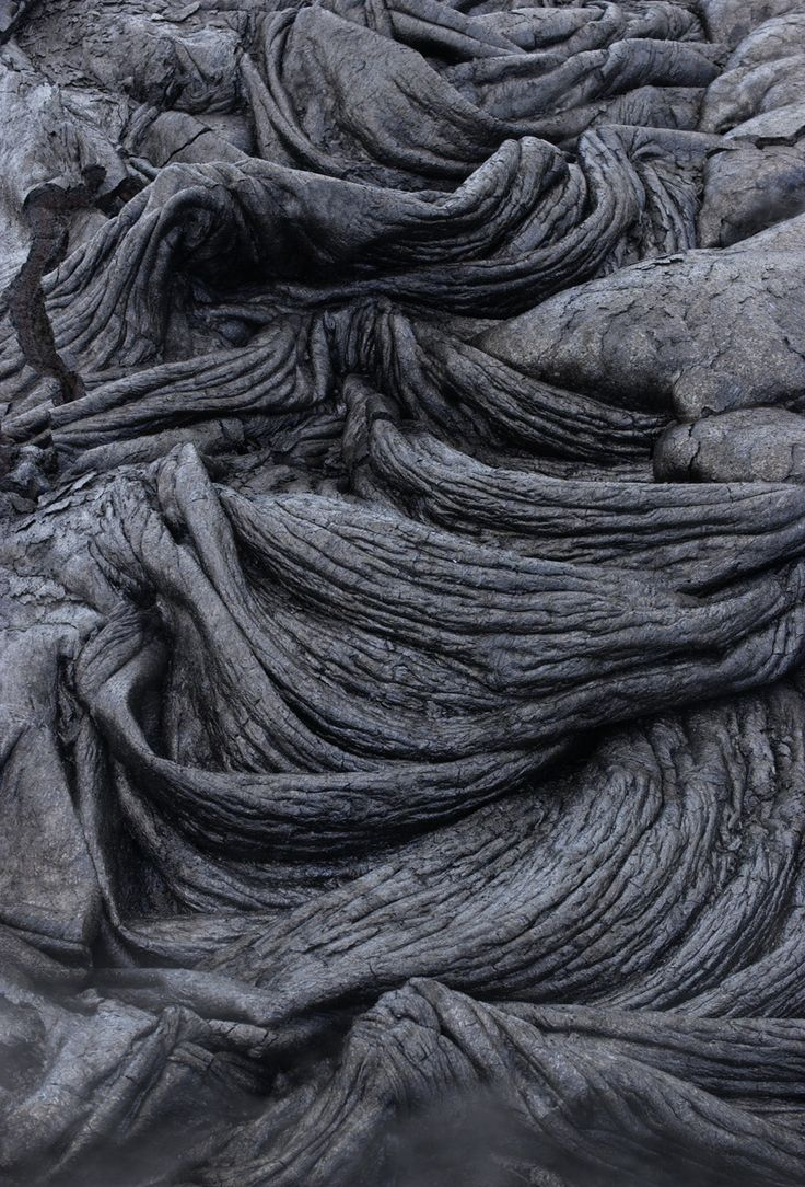 cooled lava texture - hawaii volcanoes national park