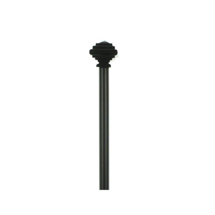 Umbra Curtain Rod & Finials Set Drapery Extra Long - o/s, Black