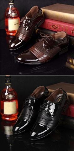 US$18.99#Mens leather sneaker,Men Formal Pointed Toe Lace Up Plaid Check Business Blucher Shoes
