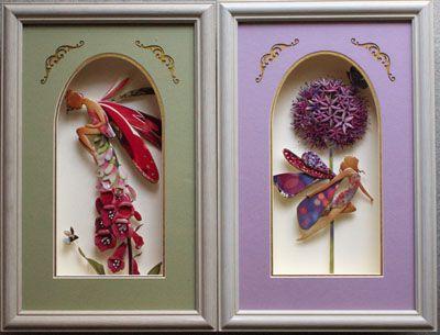 イギリスpaper rose社のカードを利用して3Dshadow box art作品にしました。made by Kazumi Iitaka