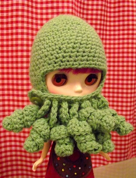 Cthulhu Hat for BlytheGeek Crochet, Cthulhu Hats Giv, Favourite Crochethack, Davey Jones, Geek Crafts, Creative Crochet, Amigurumi Ideas