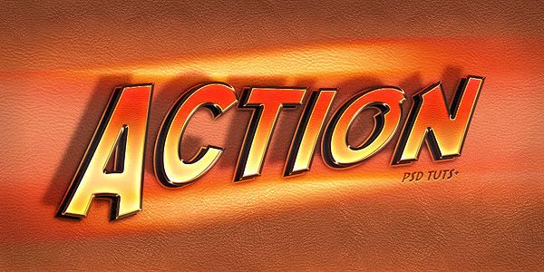 """Quick Tip: Create an """"Action"""" Text Effect in Photoshop"""