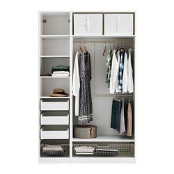 PAX Wardrobe with interior organizers - IKEA $880