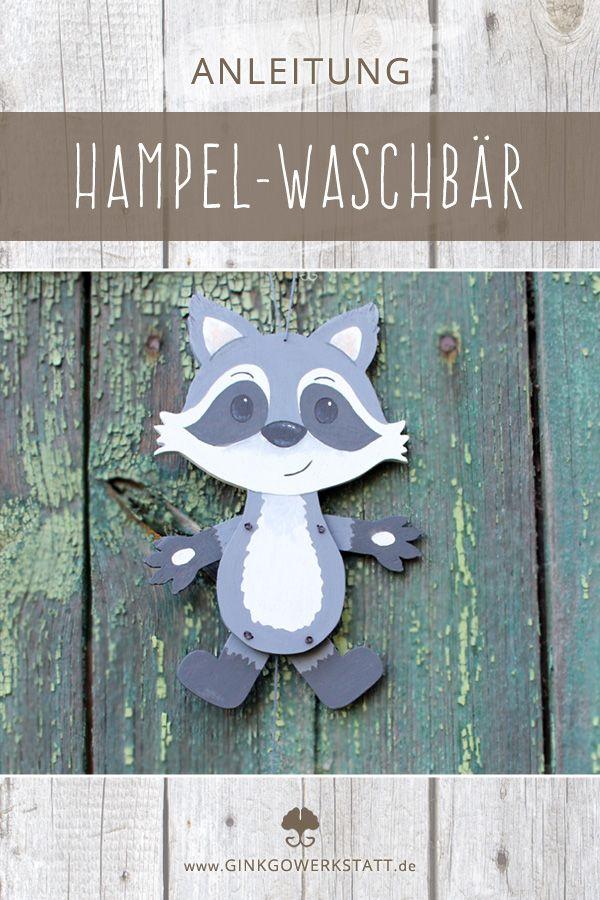 Hampelwald Waschbar Bastelvorlage Ohne Anleitung