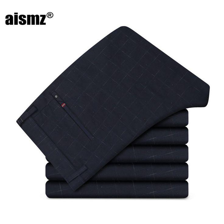 Aismz Slim Fit Dress Pants Men Pants Custom Made Business Trouses Men Skinny Pantalones Hombre,Bespoke Slim Pantalon Homme 6721