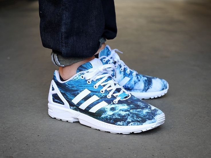 adidas ZX Flux Photo Print Ocean Torsion (blau/weiss) - The Good Will