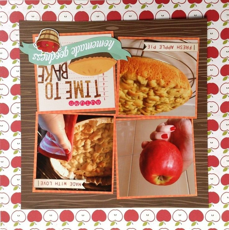 Time To Bake! - Scrapbook.com - Tilt squares for a fun change to a standard grid design. | Good ...