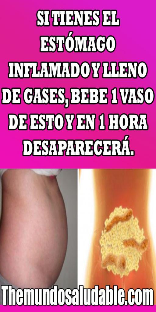 SI TIENES EL ESTÓMAGO INFLAMADO Y LLENO DE GASES BEBE 1 ...