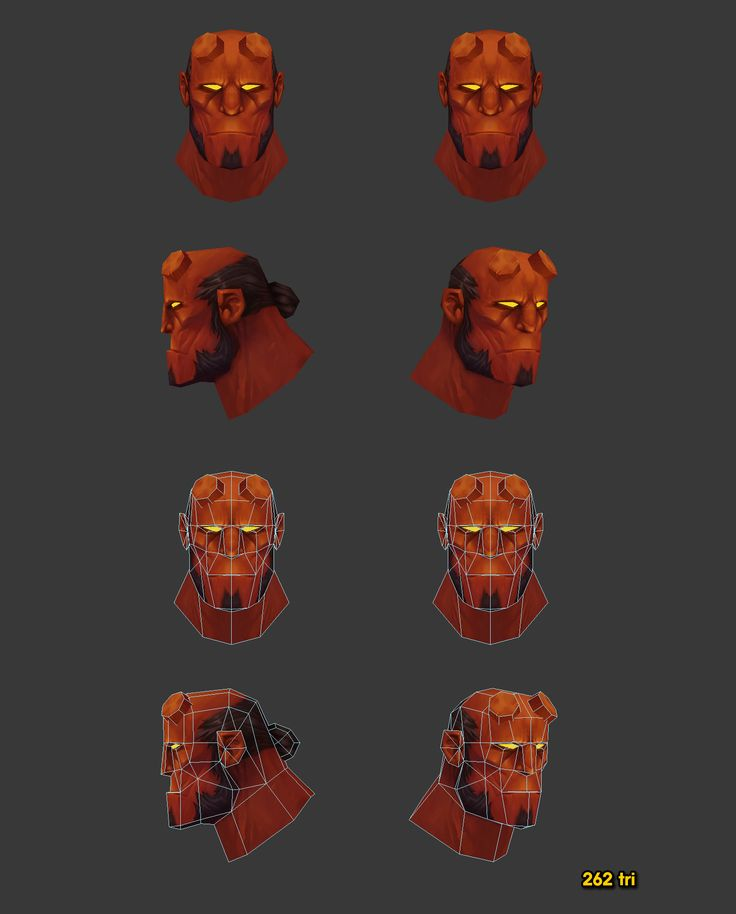 lowpolygon hellboy character  by 3D smith http://blog.naver.com/kodh83