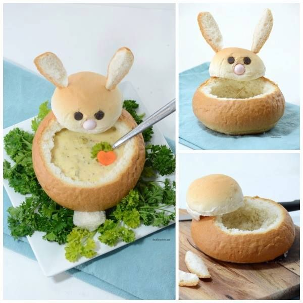 Easter Bunny Bread Bowl