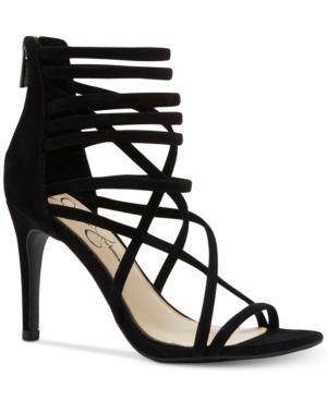 Jessica Simpson Harmoni Tubular Strappy Dress Heels - Black 5.5M