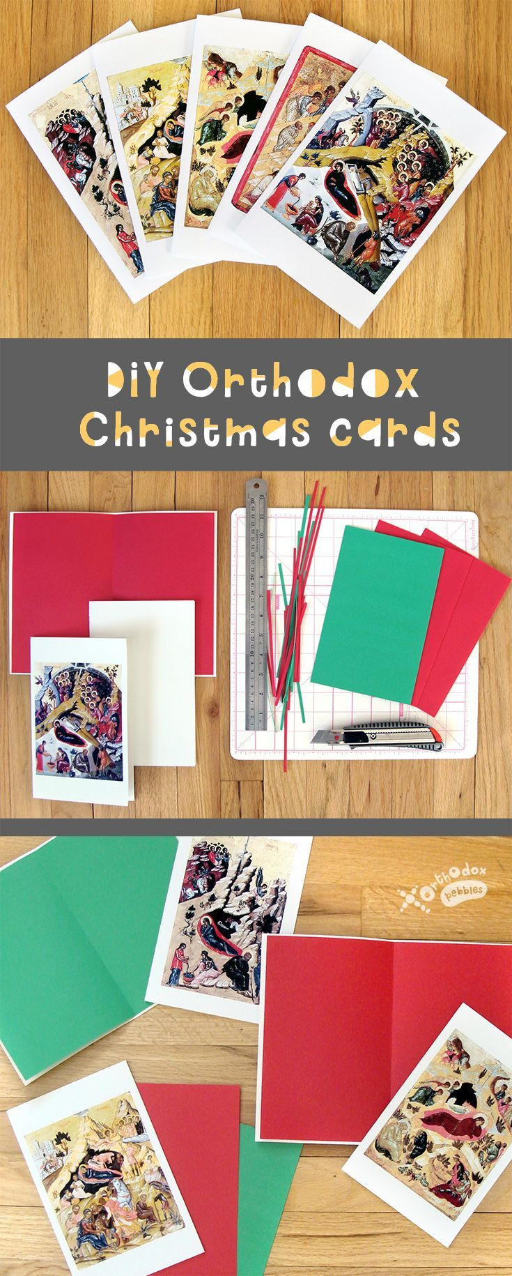 DIY Orthodox Christmas cards   Advent and Christmas   Pinterest ...