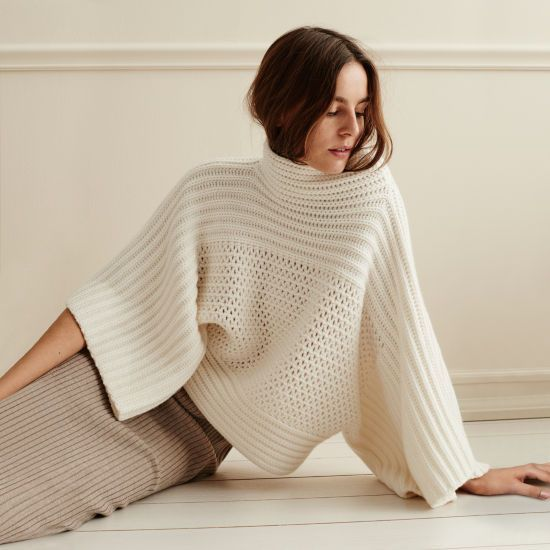 luxe stitch cashmere sweater