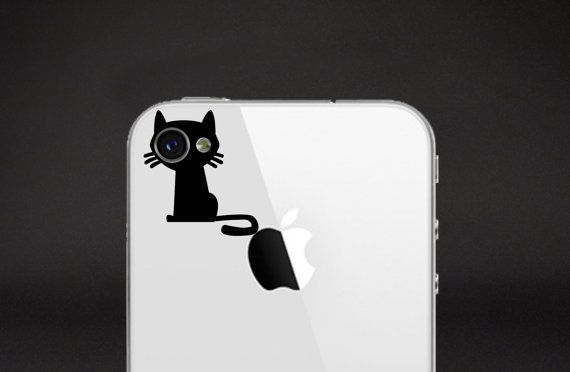 iPhone Decal - Kitty on Etsy, $2.00