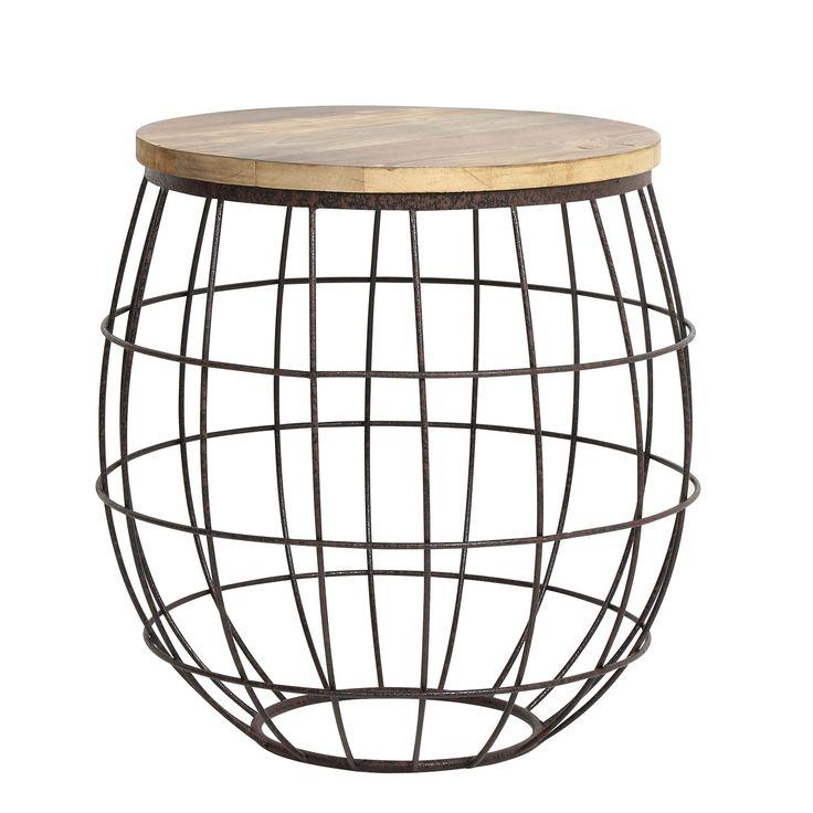 Bijzettafel Divan is een stoer industrieel design van het merk Light & Living. Het stoere onderstel in de vorm van een ijzeren mand maakt het design dan ook zo uniek.