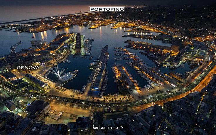 Port of Genova, closest to Portofino, during the night