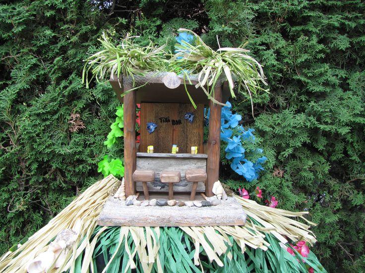 Tiki Bar bird feeder