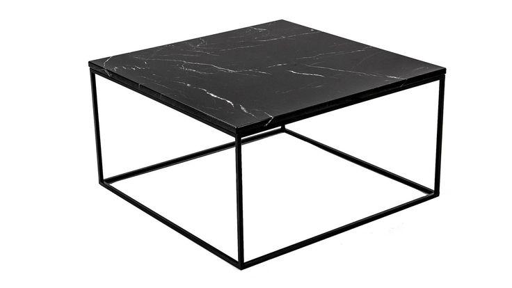 Svart marmorbord med svart stålram. Marmor, bord, soffbord, svart, ram, stål, vardagsrum, sovrum, hall, möbler, inredning. http://sweef.se/sok?orderway=desc&orderby=position&search_query=marmor