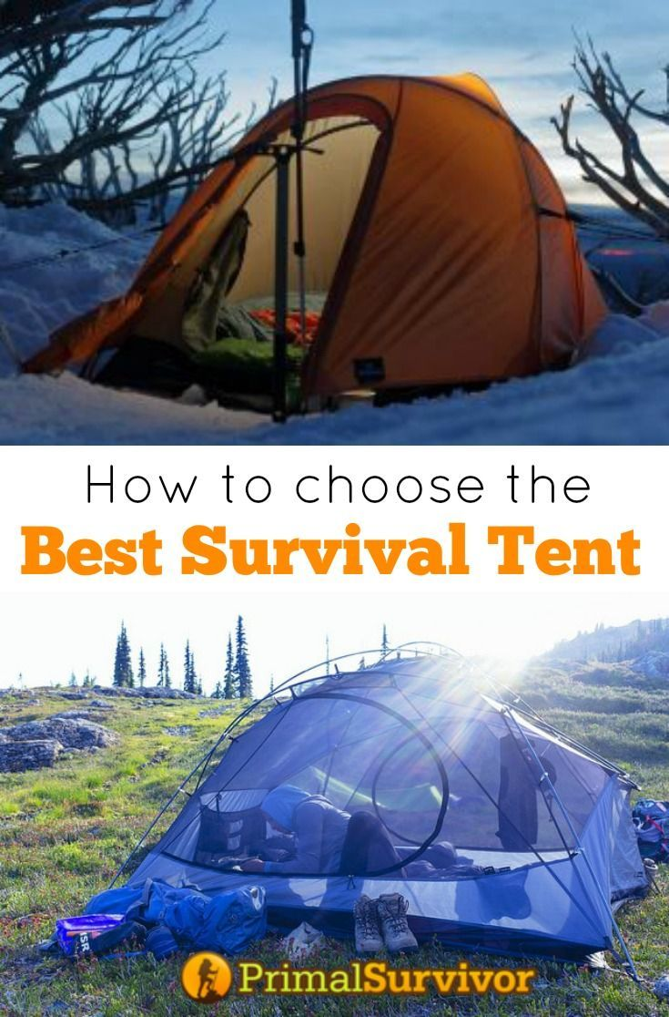 Use Our Guide to Choose the Best Survival Tent. One of our most basic survival needs is shelter. While there are plenty of ways to make your own survival shelter, the reality is that most of us would be a lot better off keeping a tent with our survival supplies.There are a lot of sites which have lists of the best survival tents. However, a lot of these ignore the fact that everyone's needs are different. First  I'll give you my top picks for survival tents by function.