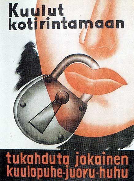 Winter War (1939–1940). Finnish poster