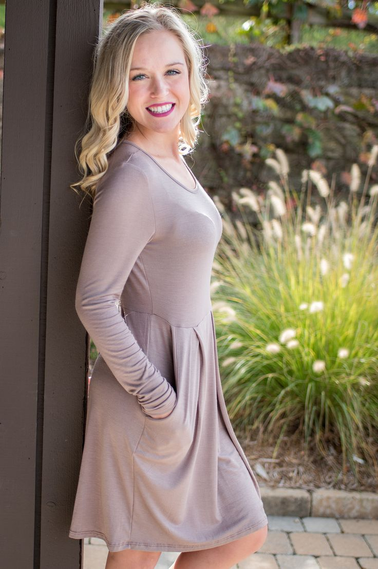 Pink Slate Boutique - Dinner Date Dress (Taupe), $32.00 (http://www.pinkslateboutique.com/dinner-date-dress-taupe/)
