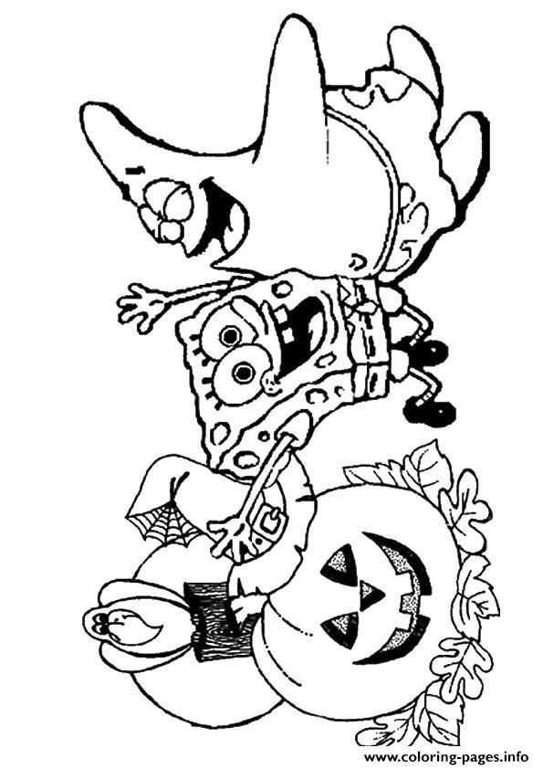 halloween spongebob coloring pages - photo#13