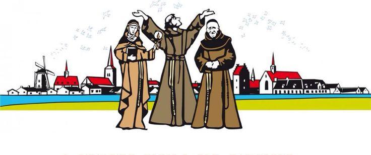 Assisis  (franciscanen) paters in Megen