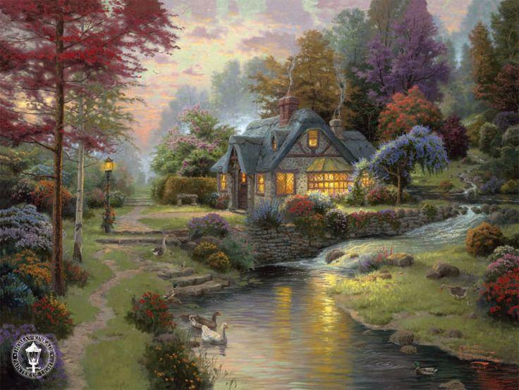 'Stillwater Cottage' - Thomas Kinkaid