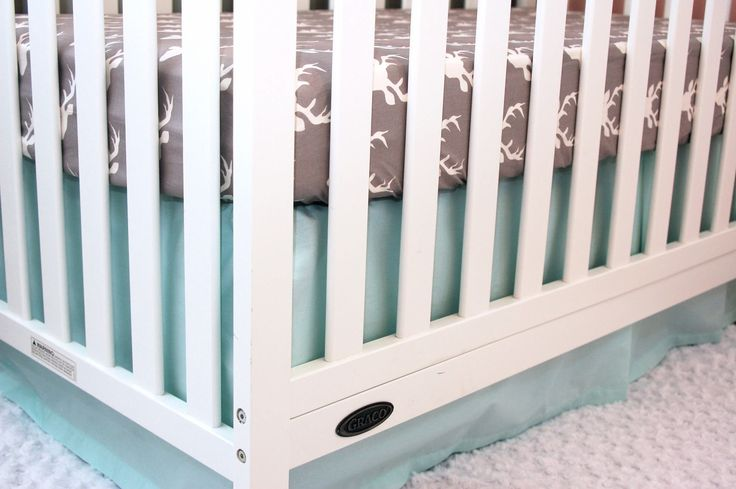 CRIB SKIRT - Solid Mint, Aqua - Straight Box-Pleat, Gathered, 3-Tier Ruffle Crib Skirt - Icy Mint - Ready to Ship in 3-5 Days by LittleMooseByLiza on Etsy https://www.etsy.com/listing/533424731/crib-skirt-solid-mint-aqua-straight-box