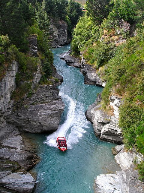 Jet Boating the Shotover River Canyons, Queenstown, New Zealand