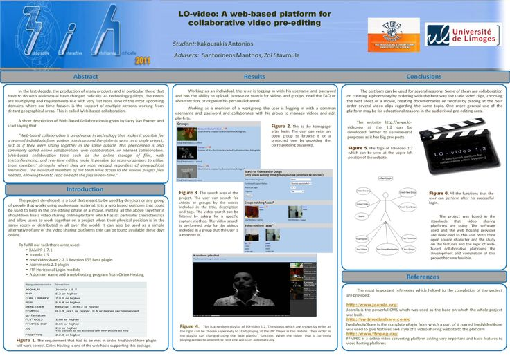 #poster #master ISICG TIM  LO-video: a web-based platform for collaborative video pre-editing