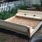 Ana White | Build a Sand box with cover that converts to built-in seats | Free and Easy DIY Project and Furniture Plans