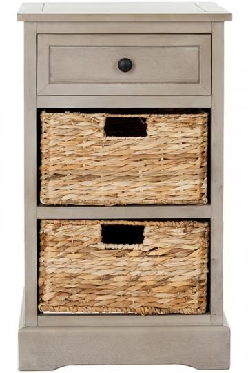 Huntington Storage Side Table - Storage Cabinet With Baskets - Side Table With Storage - Storage Side Table - Craft Room Storage | HomeDecorators.com