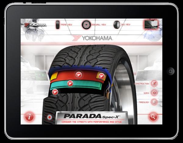 Yokohama Tires iPad App by Andrew Kimmell, via Behance