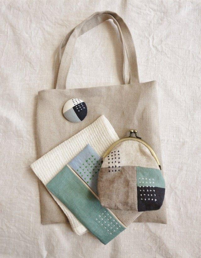 おでかけset blue&green | iichi(いいち)| ハンドメイド・クラフト・手仕事品の販売・購入