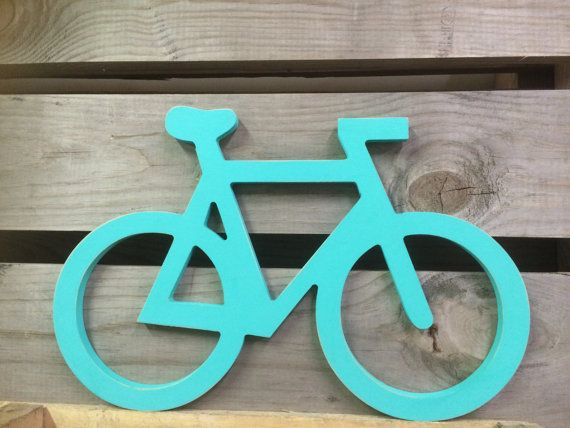 Bicycle Sign Wall Art Almost 20 W and 14 H by ASimplePlaceOnMain