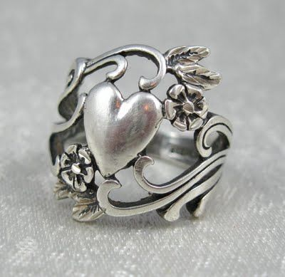 The Art Nouveau Blog: Art Nouveau Silver Rings & Spoon Rings