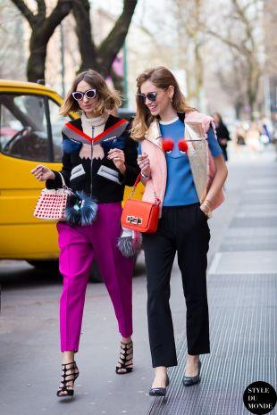 Chiara Ferragni The Blonde Salad and Candela Novembre Street Style Street Fashion Streetsnaps by STYLEDUMONDE Street Style Fashion Blog
