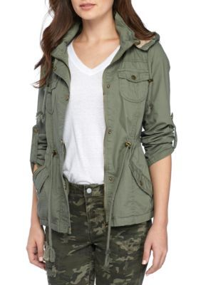 Ymi Girls' Anorak Hooded Jacket - Olive - Medium Average Or Medium Or Regular