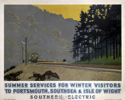 'Summer Services for Winter Visitors', SR poster, 1937., Pears, Charles