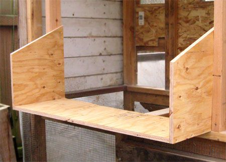 chicken coop nesting boxes plans   Measure and cut floor piece. 40 3/4″ (1035 mm) wide, 14″ deep (355 ...