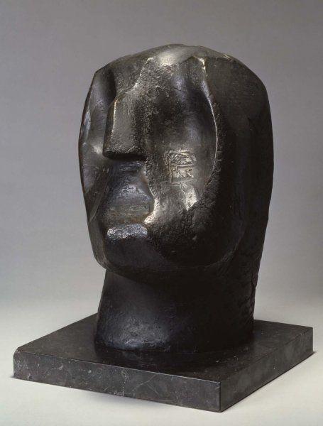 Jorge Oteiza,(1908 - 2003). Cabeza de apóstol, 1953. Bronce,  45 x 27 x 30 cm.