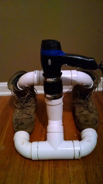 How to make a PVC Boot Drying Rack