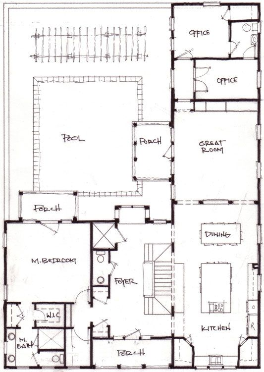 Best 20+ U shaped house plans ideas on Pinterest | U shaped houses ...