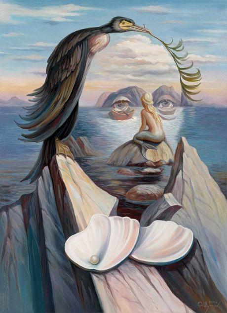 Optical Illusion Art Oleg Shuplyak - Hans Christian Andersen and the Little…