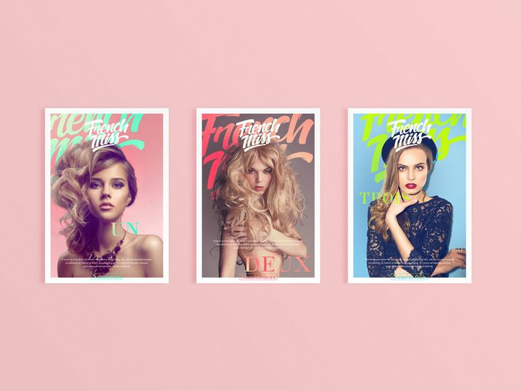 French Miss is a magazine design concept by fnkfrsh.