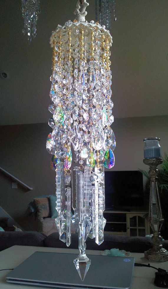 Elegant Dreamy Antique Crystal Wind Chime by sheriscrystals, $274.95