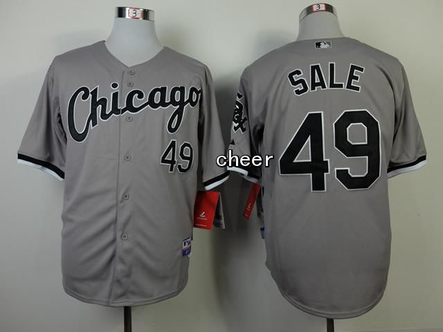 Men's MLB Chicago White Sox #49 Chris Sale Grey Jersey