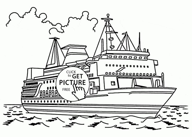 real cruise ship coloring page for kids  transportation