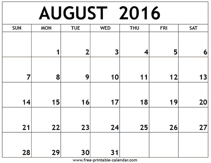 Best 25+ August 2016 printable calendar ideas on Pinterest - free printable blank calendar